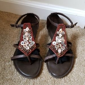 Brown bamboo Sandals